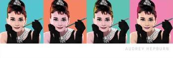 Juliste  AUDREY HEPBURN - pop art 4