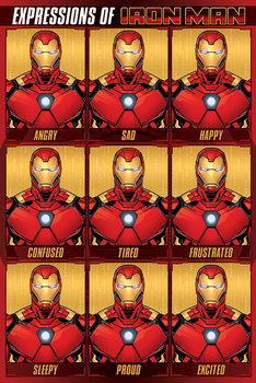 Juliste Avengers - Expressions Of Iron Man