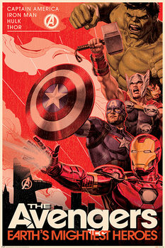 Juliste  Avengers - Golden Age Hero Propaganda
