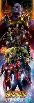 Juliste  Avengers Infinity War - Characters
