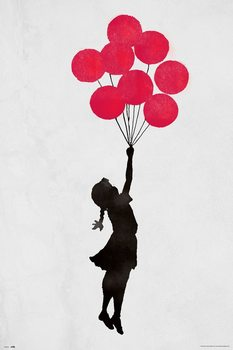 Juliste  Banksy - Floating Girl