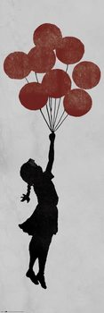 Juliste  Banksy - Girl Floating