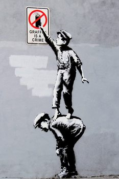Juliste  Banksy - Grafitti Is A Crime