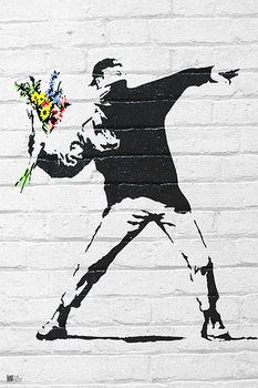 Juliste Banksy street art - Graffiti Throwing Flow
