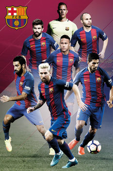 Juliste Barcelona - Players 16/17