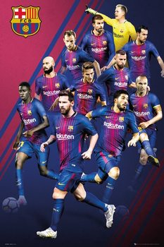 Juliste Barcelona - Players 17-18