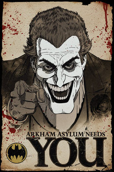 Juliste  Batman Comic - Joker Needs You