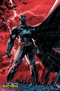 Juliste BATMAN COMIC - red rain
