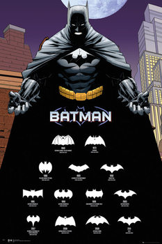 Juliste  Batman Comics - Logos