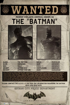 Juliste BATMAN ORIGINS - wanted