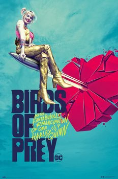 Juliste Birds of Prey: And the Fantabulous Emancipation of One Harley Quinn - Broken Heart
