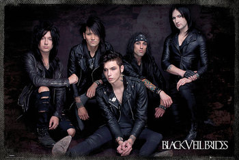 Juliste Black Veil Brides - Group Sit