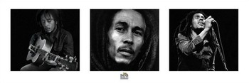 Juliste Bob Marley - 3 images (B&W)