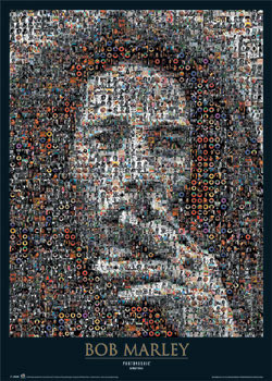 Juliste  Bob Marley - photomosaic