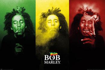 Juliste Bob Marley - Tricolour Smoke