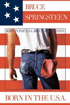Juliste  Bruce Springsteen - born in USA