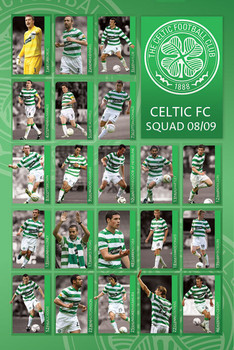 Juliste Celtic - squad 2008/2009