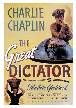 Juliste Charlie Chaplin - The Great Dictator