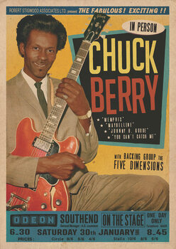 Juliste Chuck Berry at the Odeon - Southend