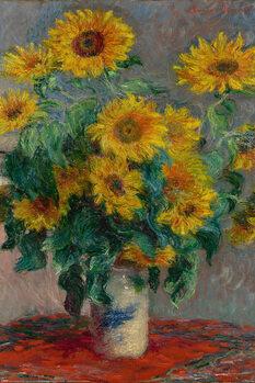 Juliste Claude Monet - Bouquet of Sunflowers