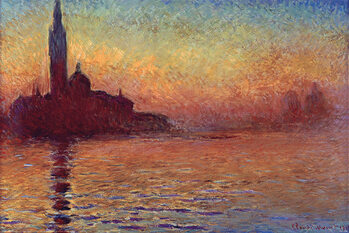 Juliste Claude Monet - San Giorgio Maggiore at Dusk