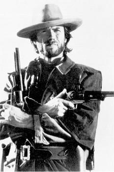 Juliste Clint Eastwood - b&w