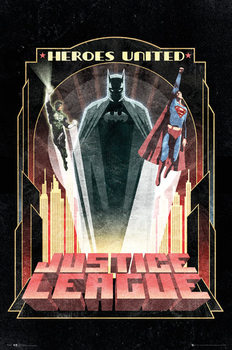 Juliste DC Comics - Batman Art Deco