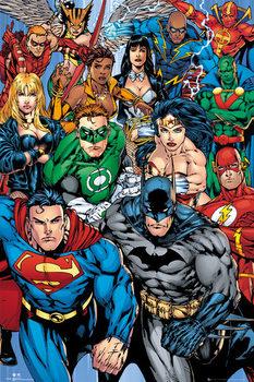 Juliste  DC COMICS - collage
