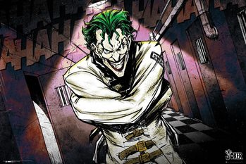 Juliste  DC Comics - Joker Asylum