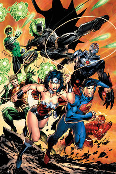 Juliste DC Comics - Justice League Charge