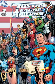 Juliste DC COMICS - justice league cover