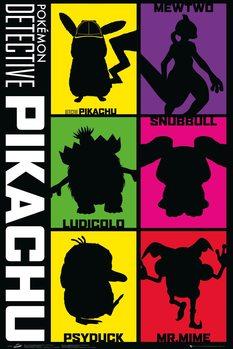 Juliste  Detective Pikachu - Silhouette