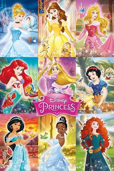Juliste  Disney Prisessat - Collage