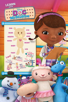 Juliste Doc McStuffins - Learn with