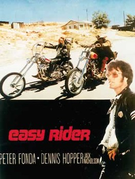 Juliste EASY RIDER - riding motorbikes / colour