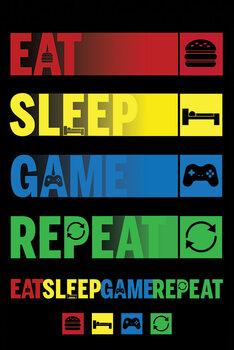 Juliste Eat Sleep Game Repeat