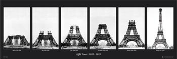 Juliste Eiffel tower - construction
