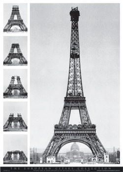 Juliste Eiffel tower - european