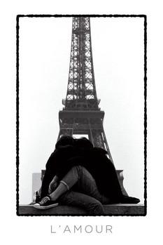Juliste Eiffel tower - l'amour