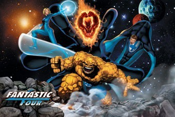 Juliste  FANTASTIC FOUR - space