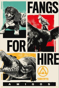 Juliste Far Cry 6 - Fangs for Hire