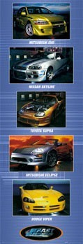 Juliste Fast and Furious - cars