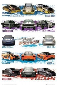 Juliste Fast and Furious - compilation