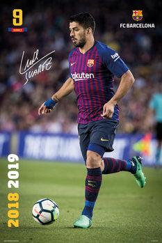 Juliste  FC Barcelona 2018/2019 - Luis Suarez Accion