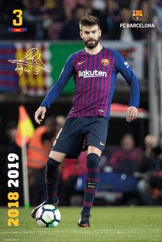 Juliste  FC Barcelona 2018/2019 - Pique