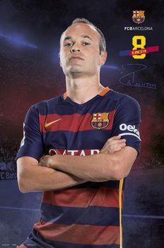 Juliste  FC Barcelona - Iniesta pose 2015/2016