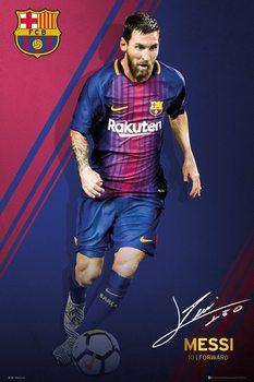 Juliste FC Barcelona - Messi 17-18