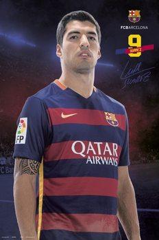 Juliste FC Barcelona - Suarez pose 2015/2016