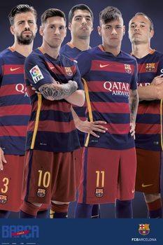 Juliste FC Barcelona - Varios jugadores 2015/2016