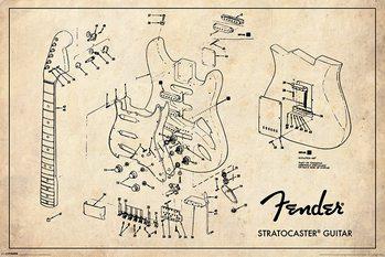 Juliste Fender - Exploding Stratocaster